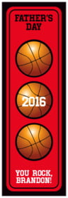 Basketball tall labels