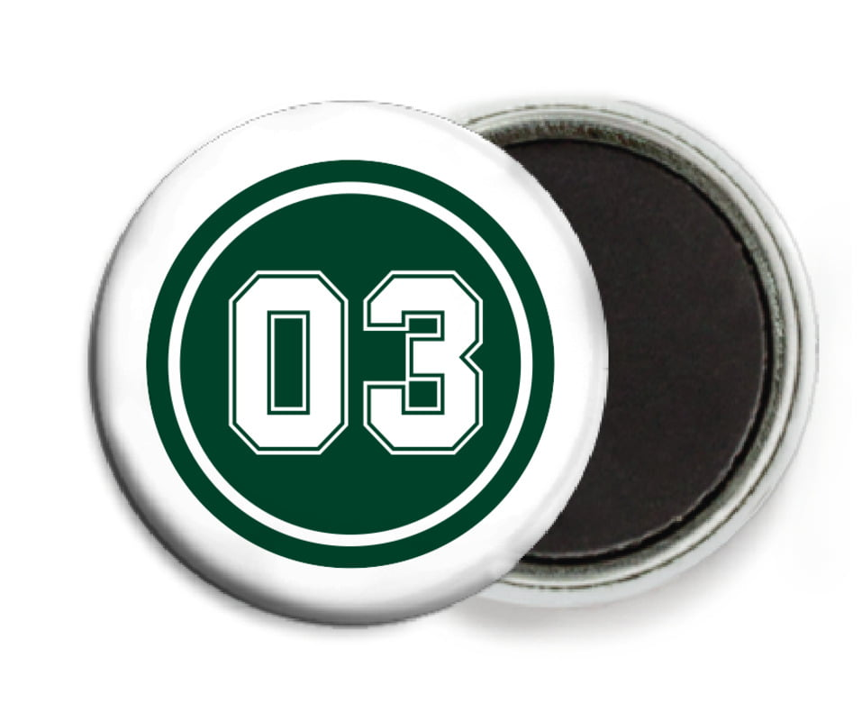 custom button magnets - forest & white - basketball (set of 6)