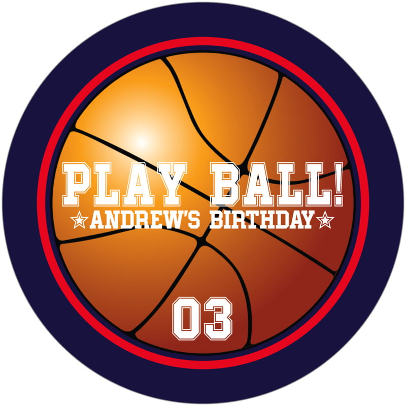 round beer coasters - red & navy - basketball (set of 12)