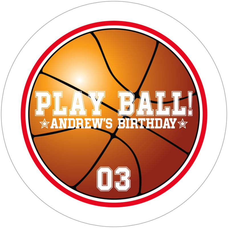 round beer coasters - red & white - basketball (set of 12)