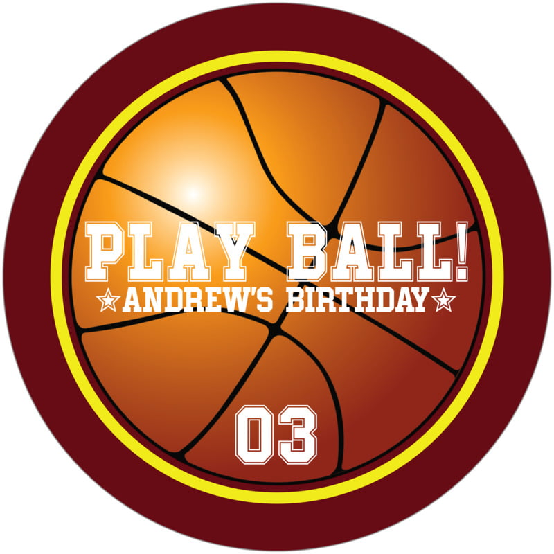 round beer coasters - yellow & maroon - basketball (set of 12)