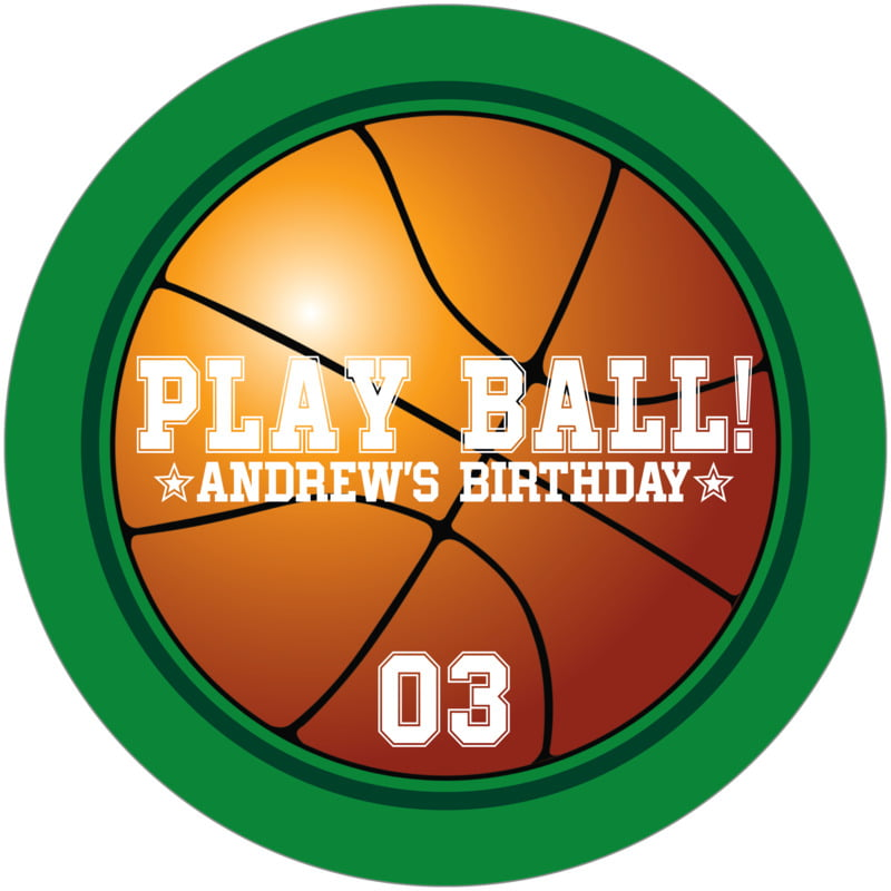 round beer coasters - forest & green - basketball (set of 12)