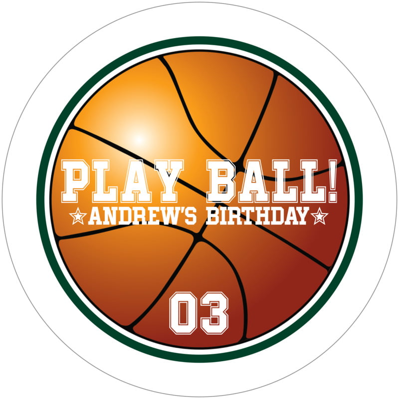 round beer coasters - forest & white - basketball (set of 12)