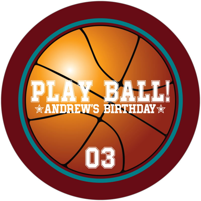 round beer coasters - teal & maroon - basketball (set of 12)