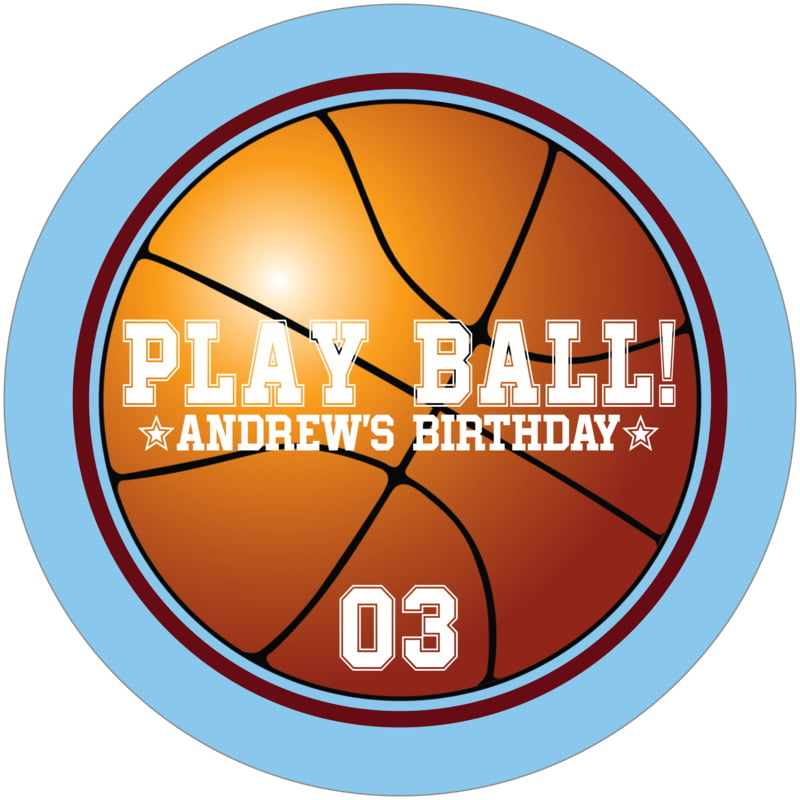 round beer coasters - maroon & light blue - basketball (set of 12)