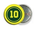 Football pin back buttons