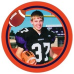 Football circle photo labels