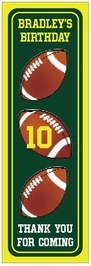 Football tall labels