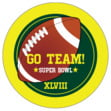 Football small round labels