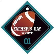 Football father's day gift tags