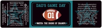 Football bottled water labels