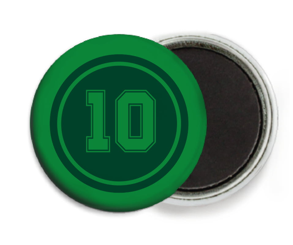 custom button magnets - forest & green - football (set of 6)
