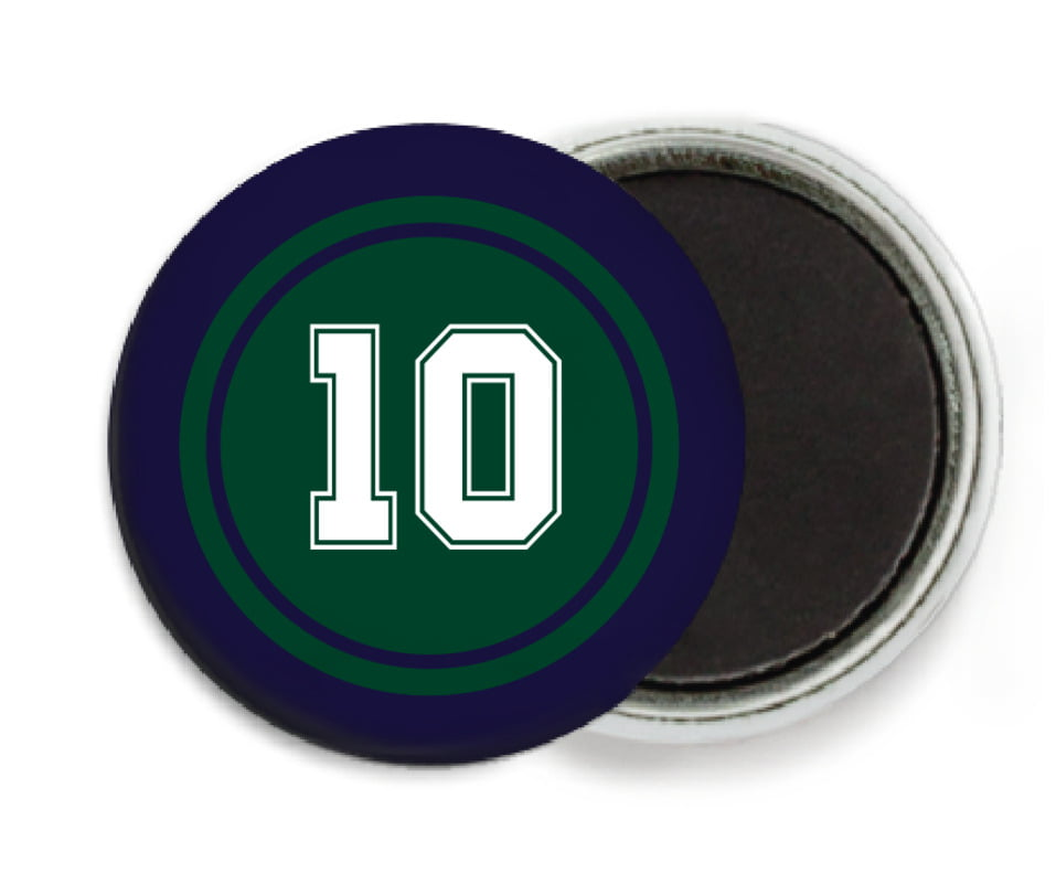 custom button magnets - forest & navy - football (set of 6)