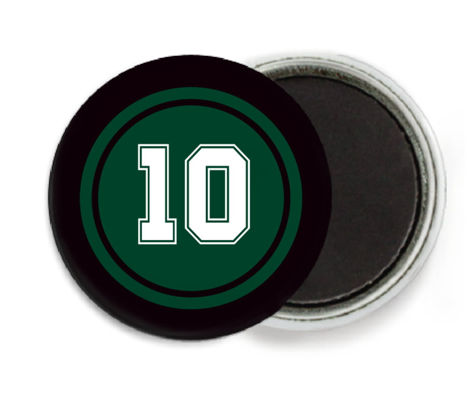 custom button magnets - forest & black - football (set of 6)