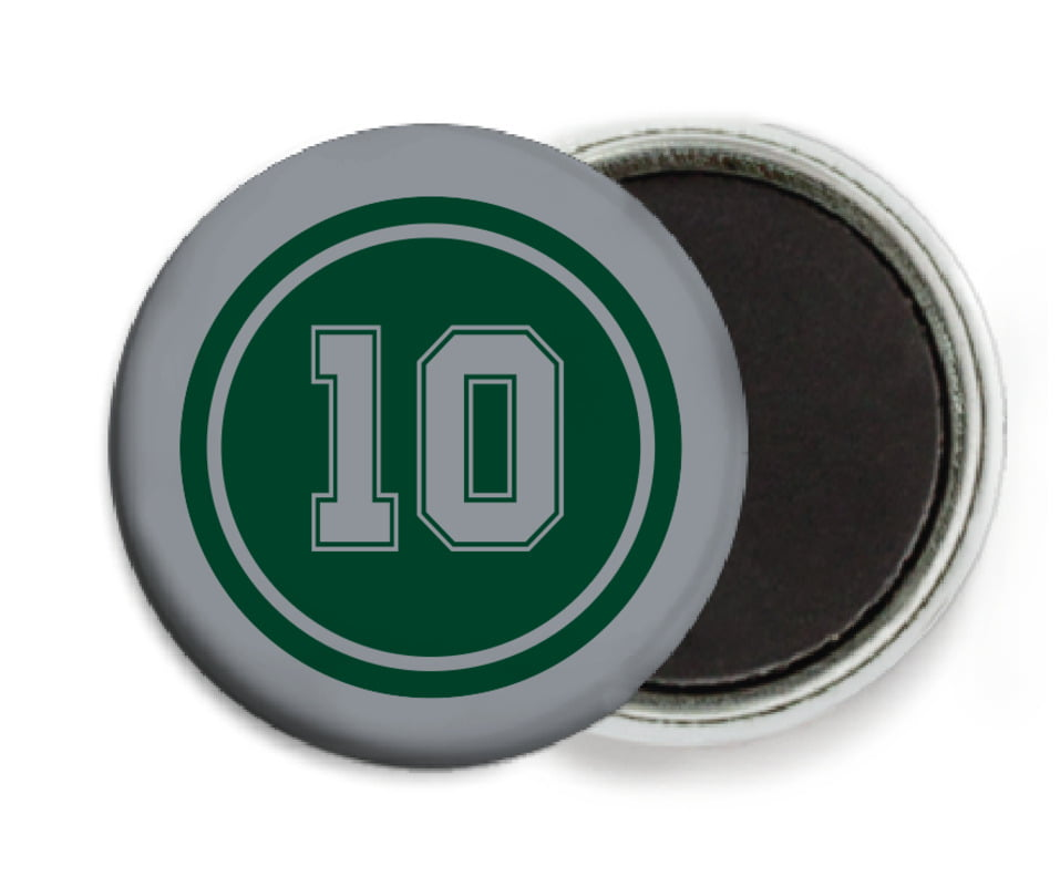 custom button magnets - forest & silver - football (set of 6)