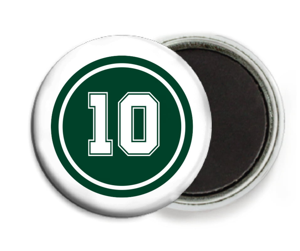 custom button magnets - forest & white - football (set of 6)