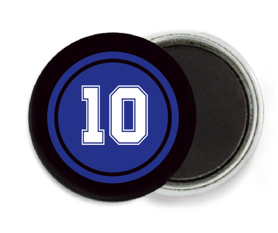 custom button magnets - royal & black - football (set of 6)