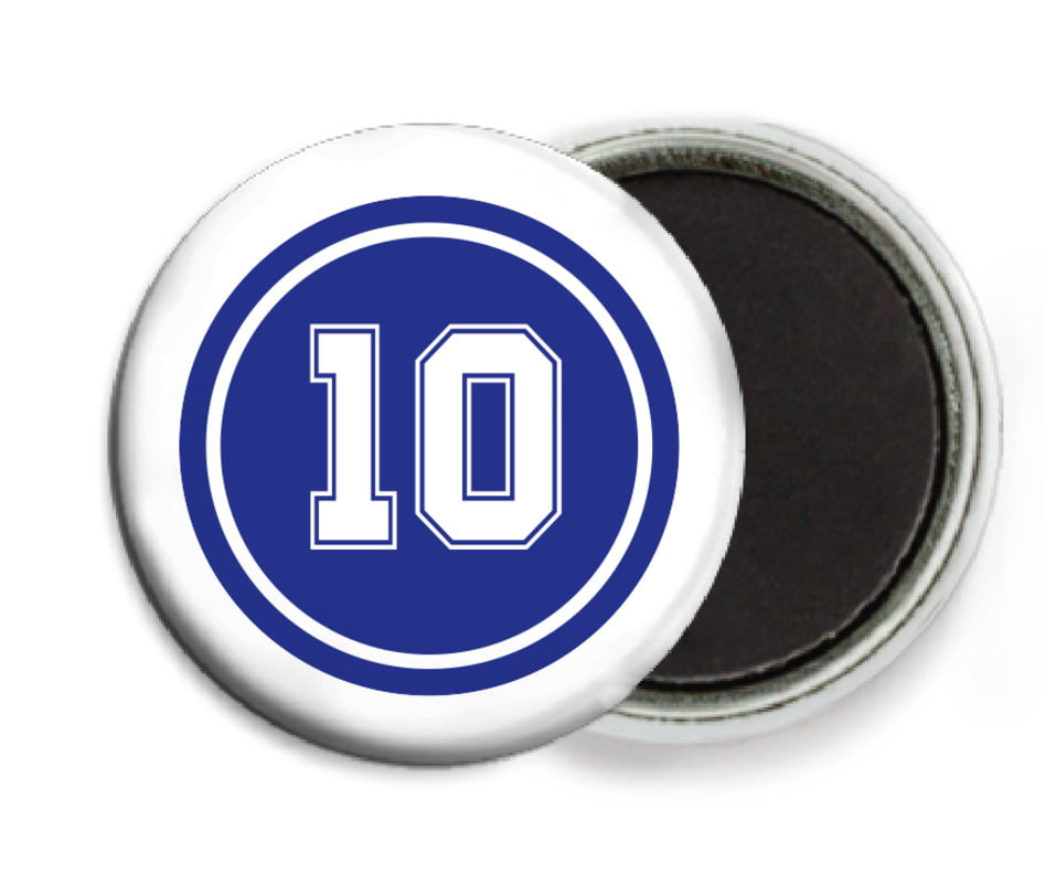 custom button magnets - royal & white - football (set of 6)