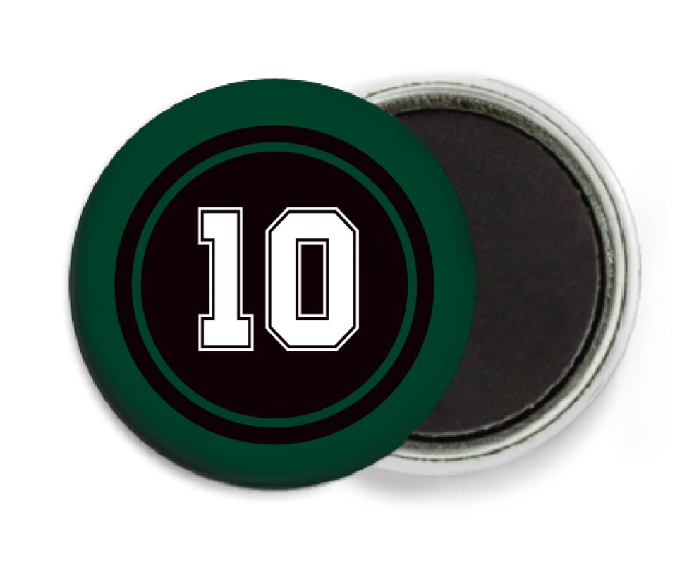custom button magnets - black & forest - football (set of 6)