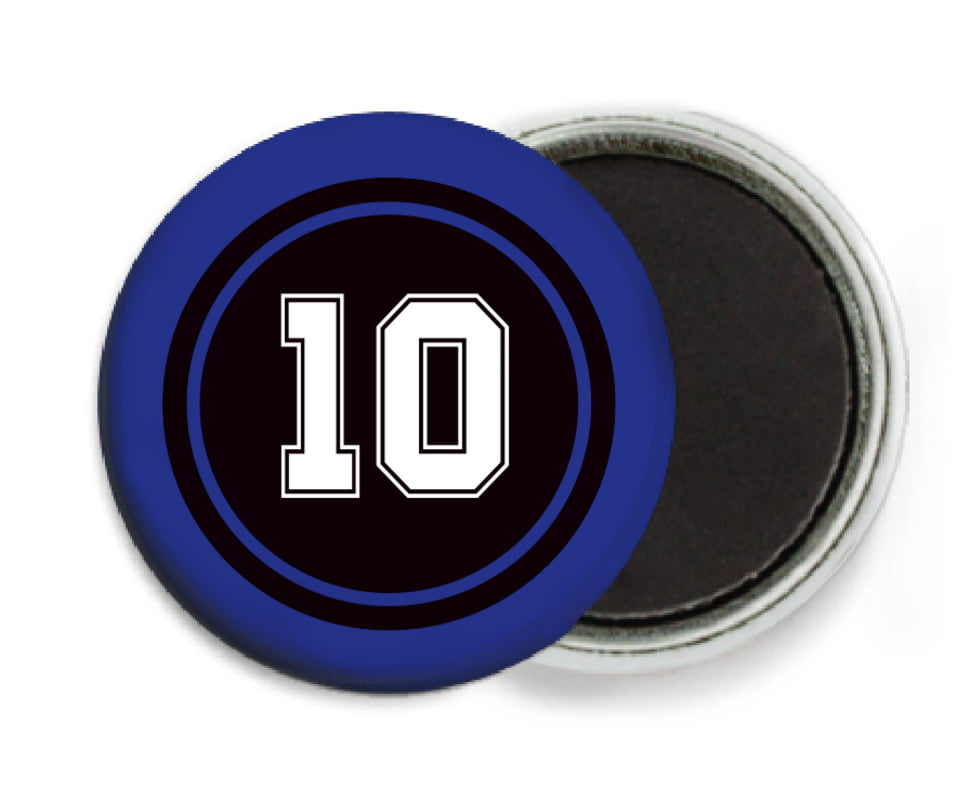 custom button magnets - black & royal - football (set of 6)