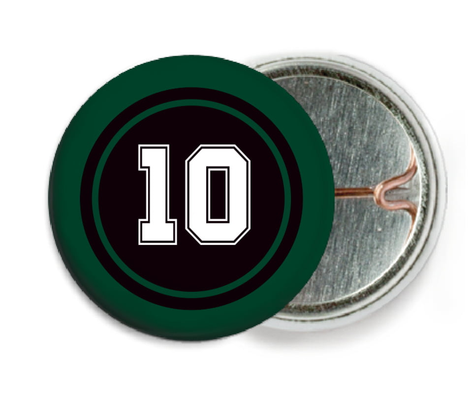 custom pin back buttons - black & forest - football (set of 6)