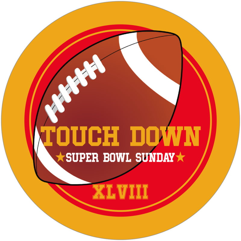 round beer coasters - red & gold - football (set of 12)