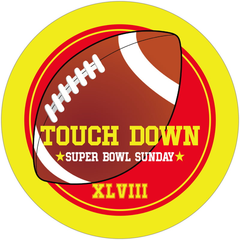 round beer coasters - red & yellow - football (set of 12)