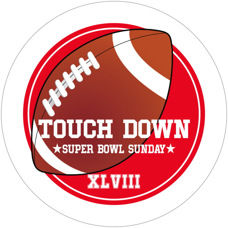 round beer coasters - red & white - football (set of 12)