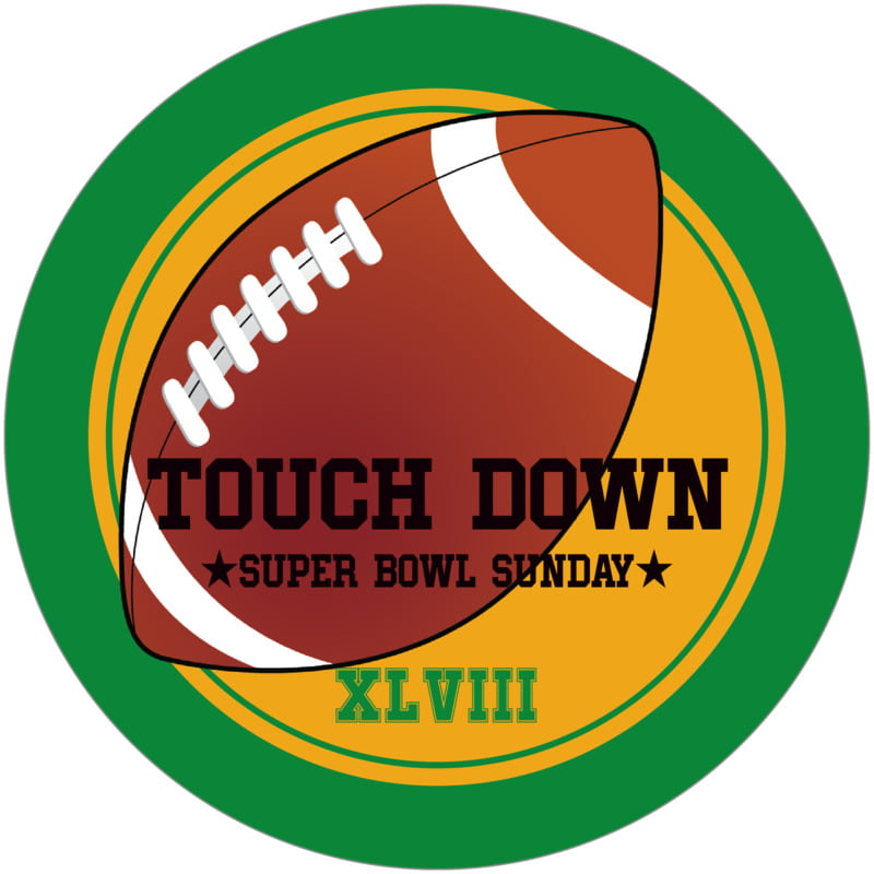 round beer coasters - gold & green - football (set of 12)