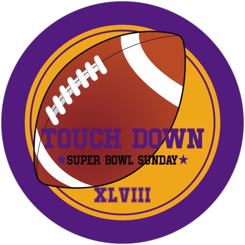 round beer coasters - gold & purple - football (set of 12)