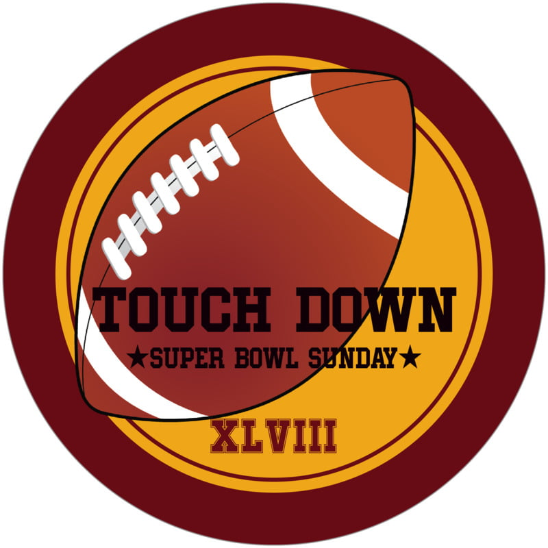 round beer coasters - gold & maroon - football (set of 12)