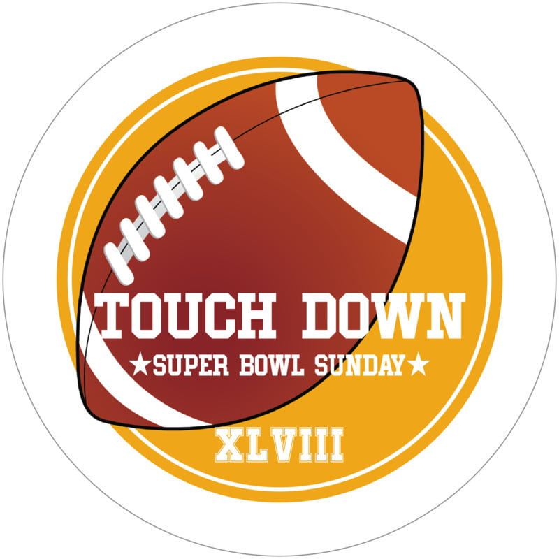 round beer coasters - gold & white - football (set of 12)