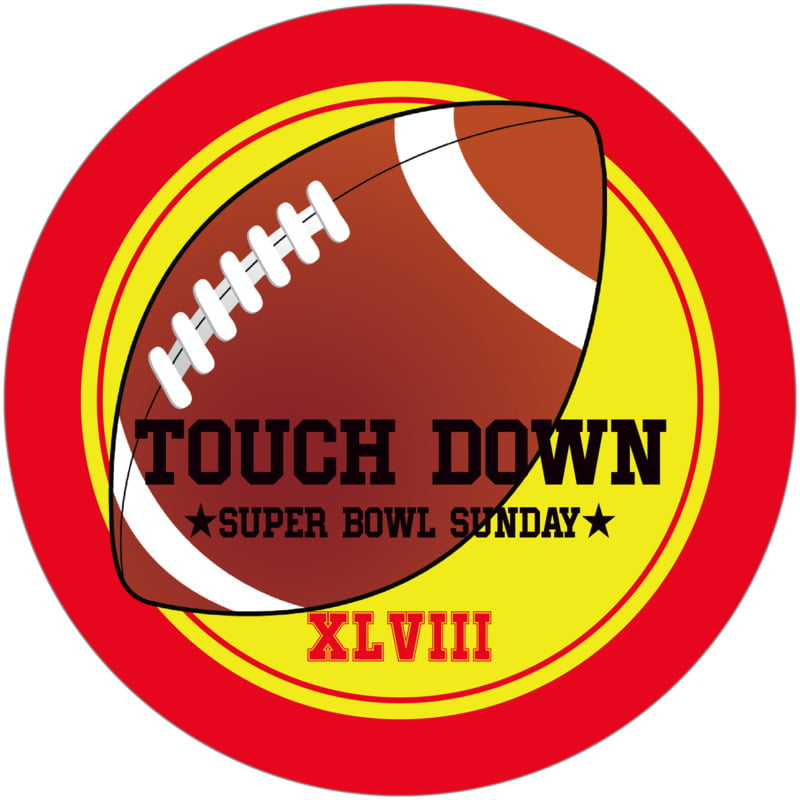 round beer coasters - yellow & red - football (set of 12)