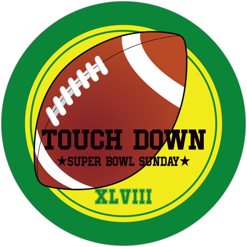 round beer coasters - yellow & green - football (set of 12)