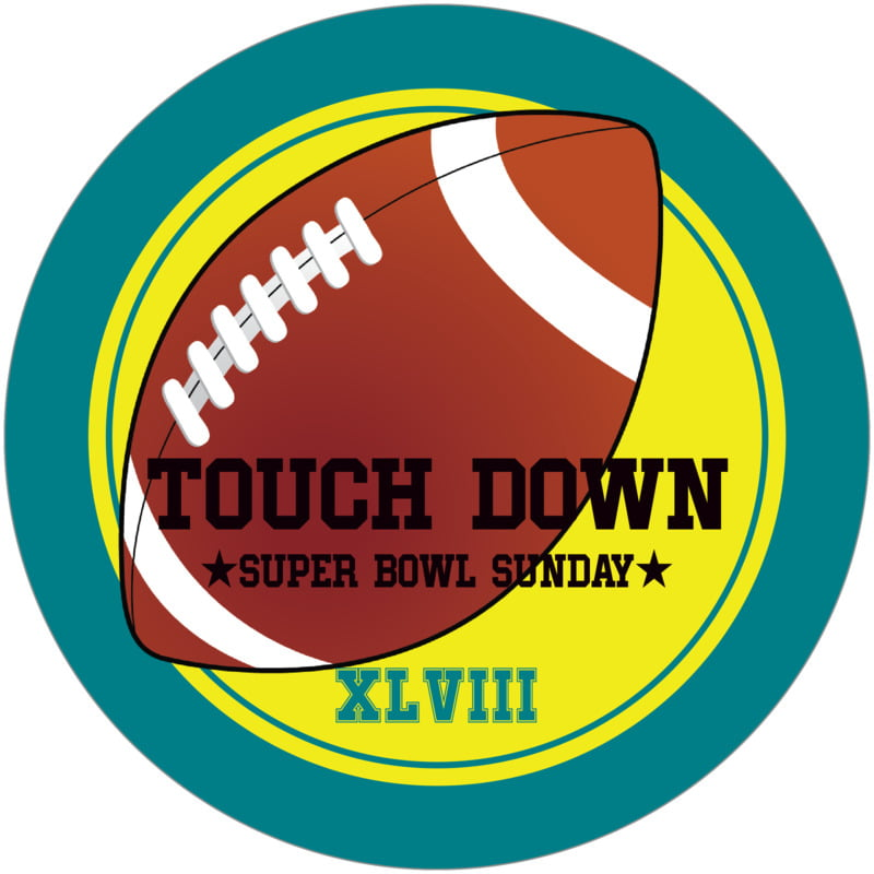 round beer coasters - yellow & teal - football (set of 12)