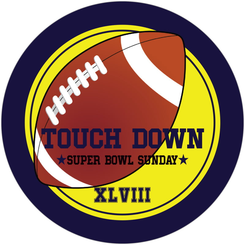 round beer coasters - yellow & navy - football (set of 12)