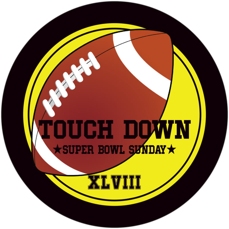 round beer coasters - yellow & black - football (set of 12)
