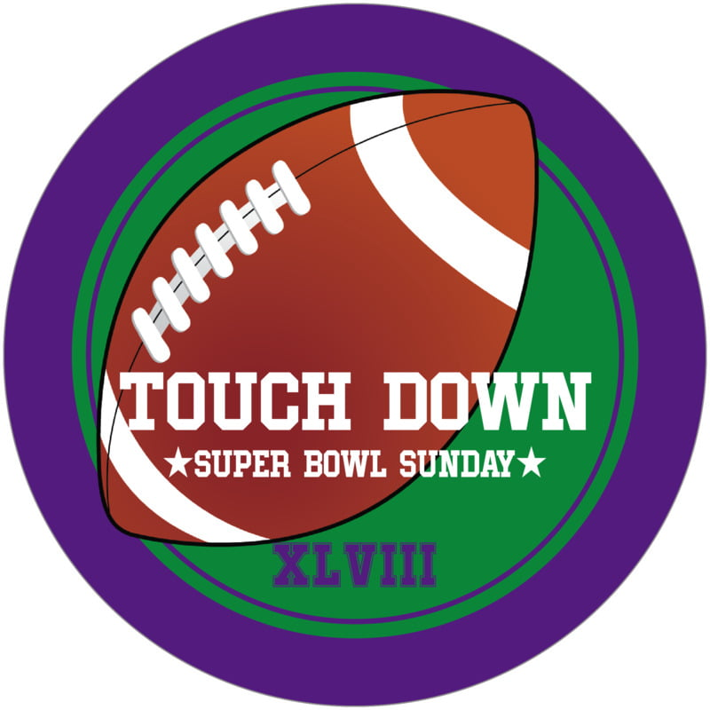 round beer coasters - green & purple - football (set of 12)