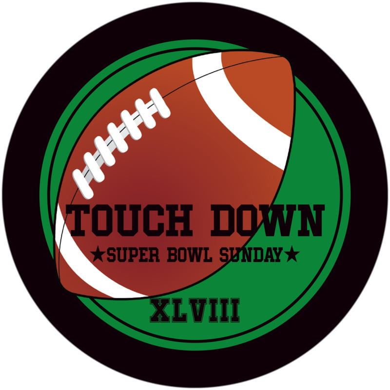 round beer coasters - green & black - football (set of 12)