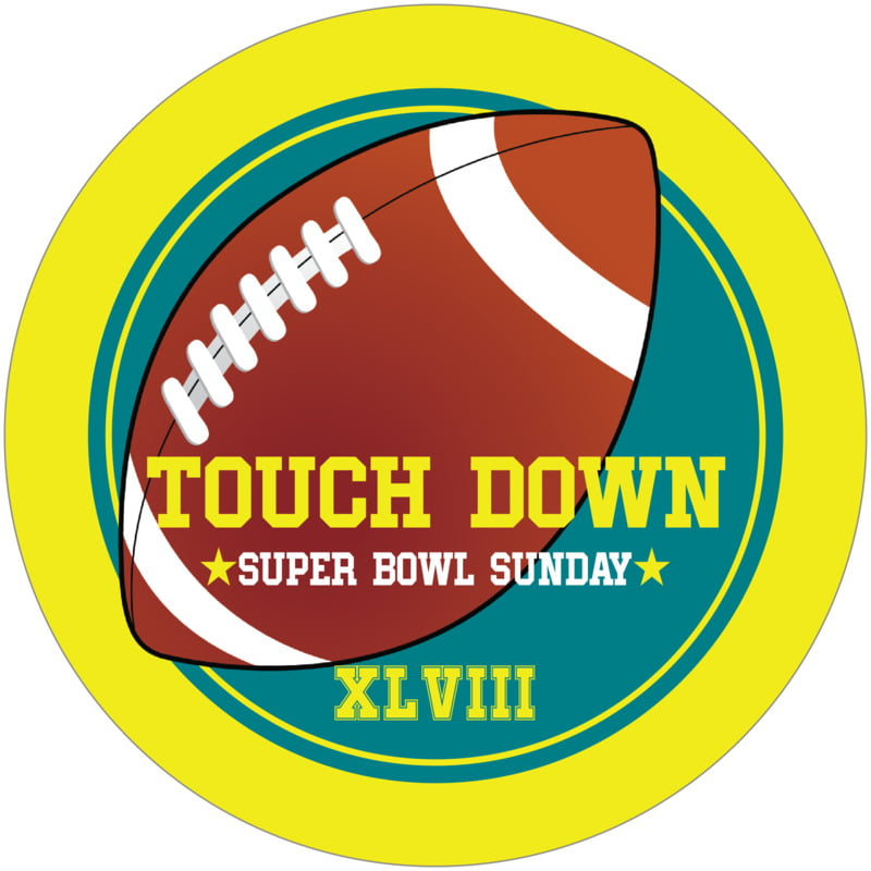 round beer coasters - teal & yellow - football (set of 12)