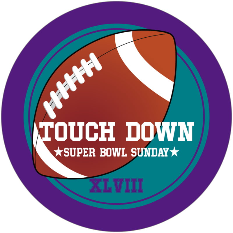 round beer coasters - teal & purple - football (set of 12)