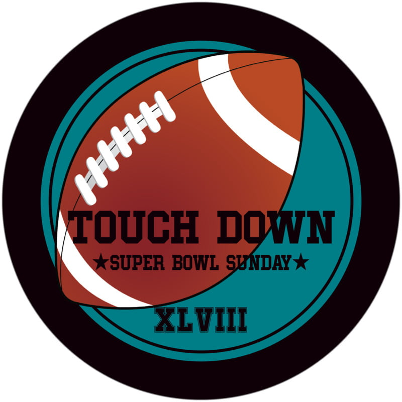 round beer coasters - teal & black - football (set of 12)