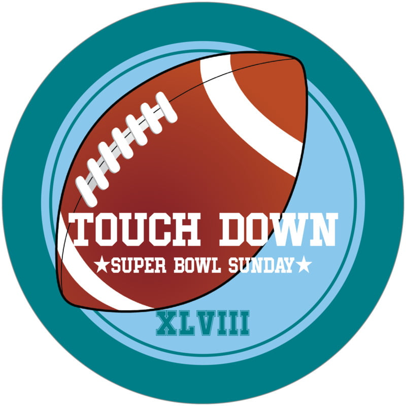 round beer coasters - light blue & teal - football (set of 12)