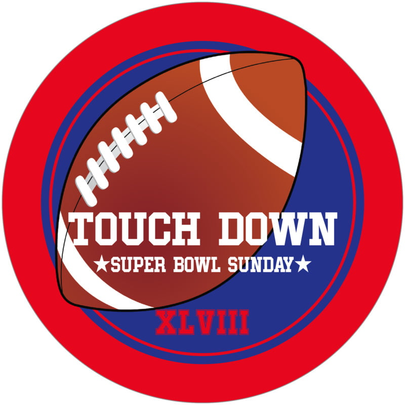 round beer coasters - royal & red - football (set of 12)