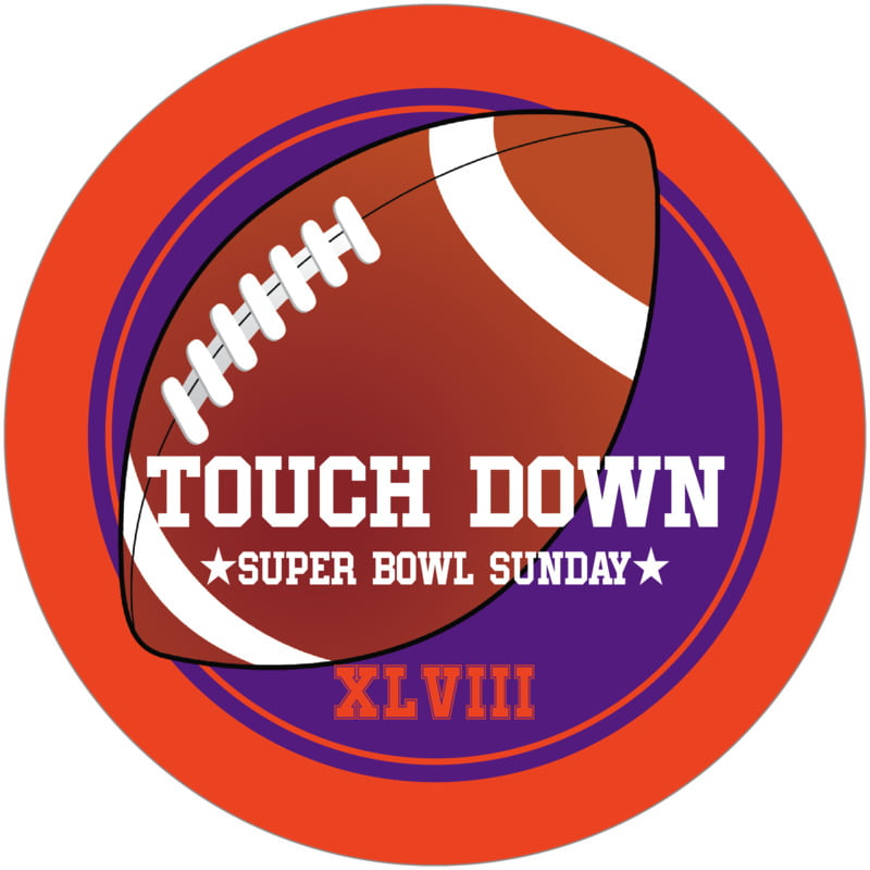 round beer coasters - purple & orange - football (set of 12)