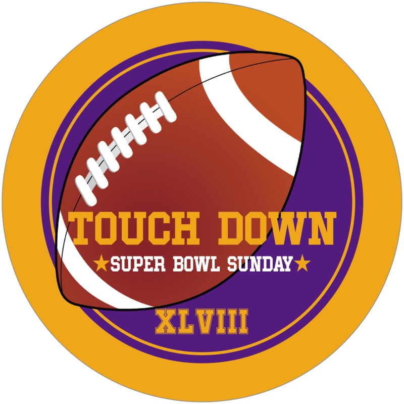 round beer coasters - purple & gold - football (set of 12)