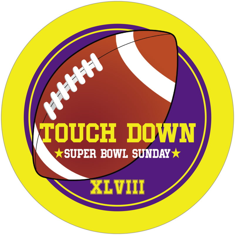 round beer coasters - purple & yellow - football (set of 12)