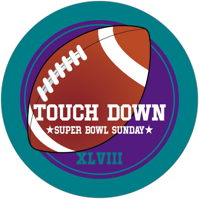 round beer coasters - purple & teal - football (set of 12)