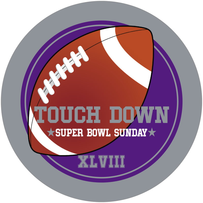 round beer coasters - purple & silver - football (set of 12)