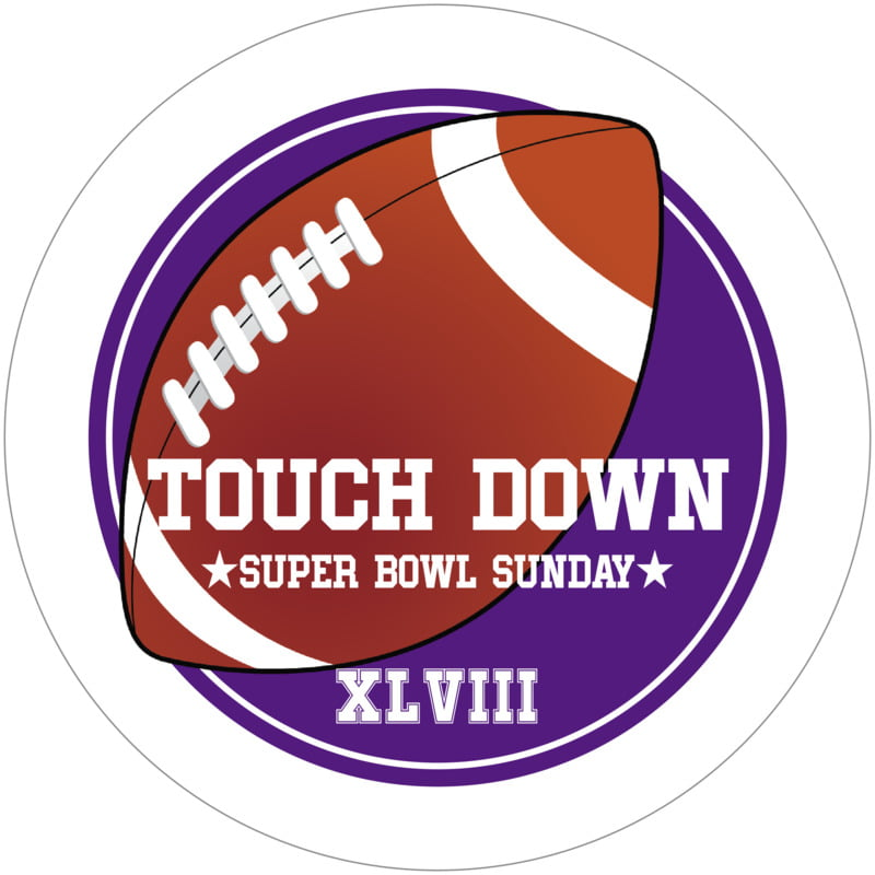 round beer coasters - purple & white - football (set of 12)